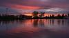 Lacombe Lake Park, St Albert, Alberta (WherezJeff) Tags: stalbert alberta canada ca lacombelake park sunset reflection water lake manmade