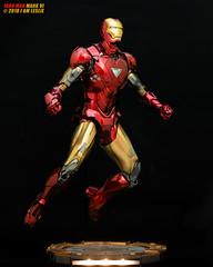 Iron Man Mk VI (I AM LESLIE . JT) Tags: red gold ironman markvi ironmanmk6 hottoys toys portrait lowkey sony macro 90mm marvel avengers