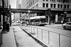 151 (Crawford Brian) Tags: belmont cta chicagotransitauthority bus 151 chicago chicagotransit bustransit street wabash urban illinois city bw blackwhite monochrome film analog agfa