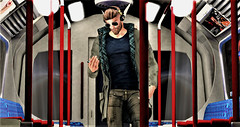 Modern Mercury in Transit (Toby ~) Tags: secondlife portrait headphones train