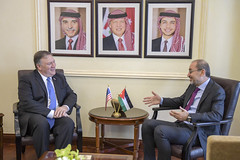 Secretary Pompeo Speaks with Jordanian Foreign Minister Safadi Before Their Meeting (U.S. Department of State) Tags: mikepompeo jordan amman