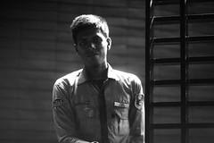 SABUR (N A Y E E M) Tags: sabur securityguard youngman candid portrait latenight light availablelight gate hotel radissonblu chittagong bangladesh carwindow