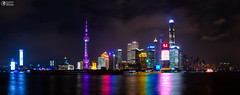 Night Scene of The Oriental Pearl Tower in Shanghai,China April 2018 (HunterBliss) Tags: architecture asia asian attraction background blue building business center central china chinese city cityscape district downtown dusk famous finance financial high highrise huangpu landmark light lujiazui metropolis modern night office oriental panorama pearl pearltower pudong river scene shanghai sky skyline skyscraper sunset tall tourism tower travel urban view water waterfront