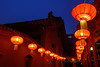 Red Lantern (bodro) Tags: beijing china theyonghetemple bamboogarden bluehour collection courtyard darkblue dawn lantern red travelphotography