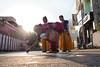 Grandma and Kids (Padmanabhan Rangarajan) Tags: parthasarathytemple ther grandma kids chennai triplicane chariot kolam rangoli