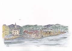 Village de Saint-Florent - Corse. (J-M.I) Tags: aquarelle art house architecture haute watercolour dessin illustration graphisme artiste exposition corse saint florent