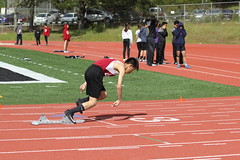 IMG_8348 (susanw210) Tags: track running trackandfield teamwork atheletes students highschool team jumping hurdles lowell cardinals highschoolsports