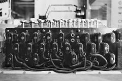 Spaghetti (Douguerreotype) Tags: bokeh code numbers encryption ww2 war london monochrome uk blackandwhite museum british mono military city britain gb bw historic england
