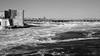 Chaudiere Dam, Ottawa (Howard Sandler (film photos)) Tags: chaudiere dam rapids ottawa blackandwhite 6x9 folder franka rolfix schneiderkreuznach radionar delta