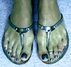 (pbass156) Tags: feet foot footfetish fetish toes toefetish sexy paintedtoes painted pedicure thong thongs sandals shoes strappy sandalias toenails