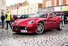 8C (Supercar Stalker) Tags: alfaromeo 8c alfaromeo8c horsham italiapiazza supercar italian red wet rain supercarstalker piazzaitalia