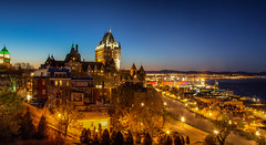 Skyline of old Quebec city @ Canada (zilverbat.) Tags: canada tripadvisor avond longexposurebynight image quebec dusk avondfotografie longexposure availablelight travel town tourism timelife wallpaper world skyline hotspot hotel zilverbat cinematic citytrip cityview city urban urbanvibes canon nightphotography nightshot nightlights buildings vieuxquebec heritage unesco tour pin bluehour