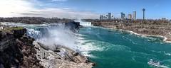Niagara Falls Pano (Wes Iversen) Tags: canada maidofthemist newyork niagarafalls niagarariver nikkor24120mm ontario usa boats buildings panoramas rivers sixshotpanorama water