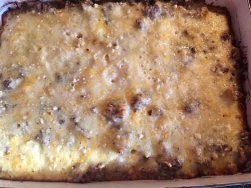 finished casserole