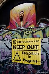 The start of the end (zolaczakl) Tags: stokescroft streetart streetartgraffiti graffiti keepout demolition fence bristol carriageworks photographybyjeremyfennell nikond7200 nikonafsnikkor24120mmf4gedvrlens uk streetscenes england urban