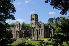 Fountains Abbey. (farrertracy) Tags: fountainsabbey bluesky spring yorkshire history picnic monastry