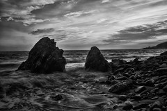 Will Rogers beach-bw (wNG555) Tags: 2018 bw california pacificpallisades pacificcoast pacificocean willrogersbeach sunset