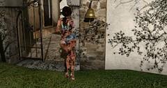 Solved! (Osiris LeShelle) Tags: secondlife second life gwynfa home gate osiris girl torn shorts bell rain ring