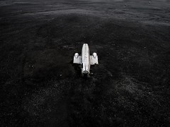 Crash landed (Jay Daley) Tags: iceland plane wreck aerial dji phantom p4p drone photography