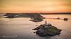 Mumbles Sunset (Anthony de Schoolmeester) Tags: mumbles lighthouse sunset goldenlight goldenhour lifeboatstation swansea swanseabay sea seascape wales southwales drone dronephotography dji djimavicpro mavicpro arielview