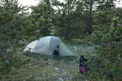 A l'abri des arbres (Samuel Raison) Tags: bivouac tente sacàdos vercors hautsplateauxduvercors mountainhardwear nikon nikon1435mmafsg nikond800