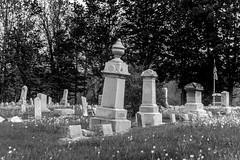 Old Cemitery (ruifo) Tags: nikon d810 nikkor afs 24120mm f4g ed vr battle creek mi michigan midwest us usa black white negro blanco preto branco bw nb pb rural monochorme monocromo kalamazoo tumba cemiterio cemitério cemitery rip grave graveyard