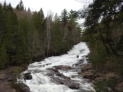 waterfall (cdavid laurier) Tags: waterfall nature water trees spring canada sunset forest landscape sky