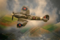 Spitfire (brian_stoddart) Tags: aviation flying flight sky clouds composite colours spitfire iconic vintage