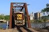Morning Wood... Maroon (GLC 392) Tags: oh ohio central system railroad railway train muskingum river bridge zanesville elevator farm supply center ge b237r super 7 ohcr gw maroon morning wood light 4092