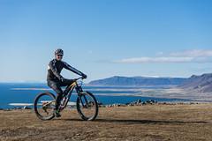 DSC04532 (Guðmundur Róbert) Tags: iceland moutain biking mtb bikes mountain hjól reiðhjól hjóla cycling mountains sky blue sony a7ii kit lens landscape intense cube 29er downhill uphill view island ísland black white
