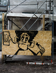 Streetart Miscellaneous 2428 (cmdpirx) Tags: hamburg germany reclaim your city urban street art streetart artist kuenstler graffiti aerosol spray can paint piece painting drawing character chari colour color farbe spraydose dose marker stift kreide chalk stencil schablone wall wand nikon d7100 cutout fun humor vandalism vandalismus tag tagging quote slogan spruch