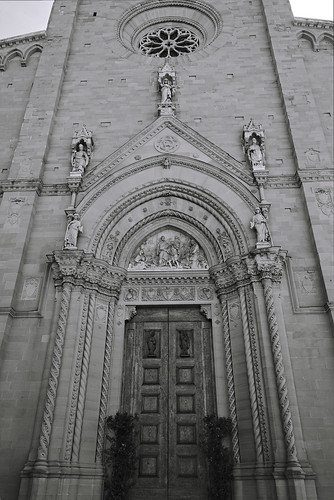 Entrance to Arezzo Cathedral