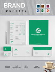 Brand identity (designerforhad) Tags: brandinedtity stationary a4 corporate identity business branding businesscard envelope invoice folder clean modern elegent bill flyer brochure