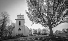 Keller Church _BW (Bob G. Bell) Tags: kellerchurch pencesprings church sun tree springsummers wv westvirginia xm1 fujifilm
