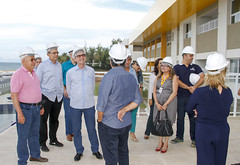 Presidente Marcelo Queiroz visita obras do Hotel Escola Senac Barreira Roxa