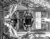 Fountain reflection (A. Yousuf Kurniawan) Tags: reflection fountain blackandwhite monochrome water streetphotography cameraphone urbanlife people cameraphonestreet citypark decisivemoment mirror
