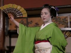 Mikako Dancing (Rekishi no Tabi) Tags: gion gionkobu japan geiko geisha geigi kimono fan dance odori kyoto
