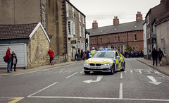 Final police car (barronr) Tags: car england knaresborough rkabworks tourdeyorkshire yorkshire bathgatephotographer cycling police race