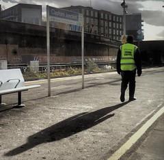 Crowd Control. (ManOfYorkshire) Tags: stmgroup crowdcontrol control station staff railway train hiviz pointless platform claphamjunction southlondon settingsun long shadow
