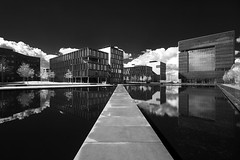 headquarter (O l l i . B .) Tags: thyssenkruppsteel essen europe nrw nordrheinwestfalen deutschland germany gebäude architektur architecture arquitectura schwarzweis sw schwarzundweis schwarz weis blackwhite black white blanc noir bw ollib oliverbuchmann canoneos400d infrared infrarot