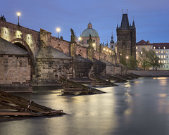 Charles Bridge in the Morning, Prague, Czech Republic (ansharphoto) Tags: architecture attraction bohemia bridge building capital charles church city cityscape cobblestone czech dawn destination dome europe european figure gothic historical history house iconic landmark landscape lights medieval morning night old praga prague praha republic river saint sculpture sky skyline spire statue street tourism tower town travel twilight urban vacation vltava