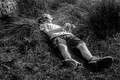 Rest (PaulEBennett) Tags: boy child hat asleep mono blackandwhite pentaxk3ii