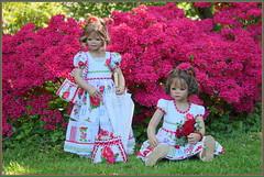 Anne-Moni und Milina ... (Kindergartenkinder 2018) Tags: gruga grugapark essen azaleen kindergartenkinder annemoni milina annette himstedt dolls