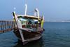 Boat in Doha Bay (Marcello Arduini) Tags: boat dhow qatar evenig doha bay