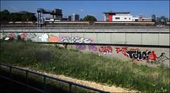Various... (Alex Ellison) Tags: southlondon urban graffiti graff boobs name name26 smc mink 10foot tyno jpt trackside railway