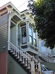 San Francisco, Noe Valley, Victorian House with Bay Window (Mary Warren 13.5+ Million Views) Tags: sanfranciscoca noevalley architecture building house residence urban victorian stairs railing bowwindow