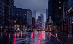 New York (KennardP) Tags: manhattan newyorkcity newyork nyc road reflection water buildings cityatnight citylights nightlights handheldnightphotography handheld stores apartments canon5dmarkiv 5dmarkiv canon sigma50mmf14dghsmart sigmaartlens sigma cars clouds cloudy rain