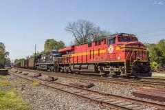 NS 739 DPU at Austell (travisnewman100) Tags: norfolk southern train railroad rr freight unit coal empty heritage es44ac et44ah 8114 original georgia division austell inman terminal district 739
