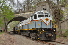 Days gone by (Arkangel Productions) Tags: alco c425 dl delaware lackawanna pocono mainline main ocs office car special portland pa cut off river viaduct