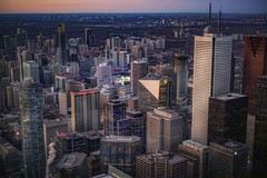 Winners (karinavera) Tags: city longexposure night photography cityscape urban ilcea7m2 canada sunset toronto aerial financialdistrict view